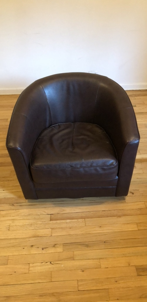 Leather Rotating Chair