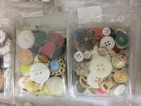 Assorted buttons 80 to 90 pcs in each pack Milton, L9E 7R2