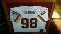 Orakpo Autographed And Framed Redskin Jersey Falling Waters, 25419
