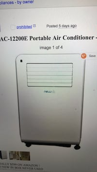 newair air portable conditioner Los Angeles, 90042