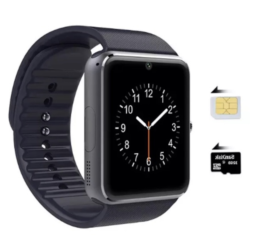 apple smart watch clone iphone or android compatible in. Black Bedroom Furniture Sets. Home Design Ideas