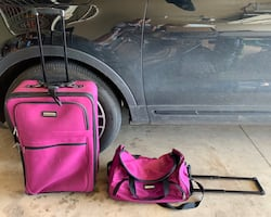 Purple Luggage - Suitcase and Matching Rolling Duffel Bag