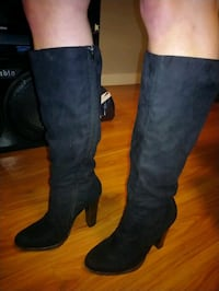 Black heel dress boots size 10 Waterloo