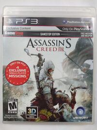 Assassins Creed 3 III Playstation 3 PS3 Forest Park