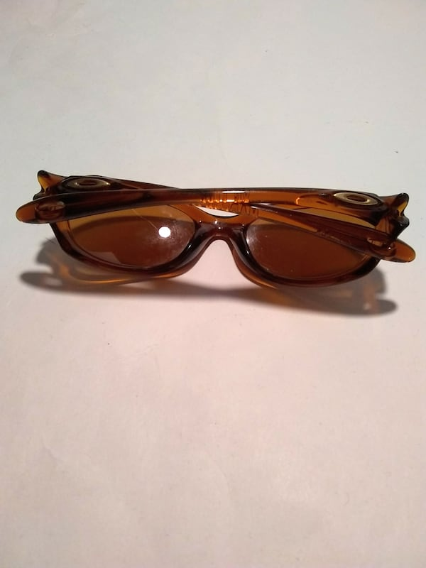 Oakley Xs Youth Kids Brown Wrap Sunglasses 4