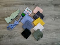 Assorted bow ties, pocket squares and handkerchiefs for $5