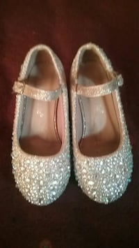 pair of gray glittered mary jane shoes Columbus, 43211