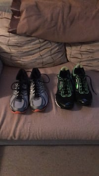 2 pairs of shoes. Size 11 men running shoes only wore once in very good condition. $95 for both obo. Millsboro, 19966