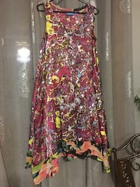 women's multicolored floral sleeveless dress