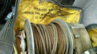 grey and brown winch in bag