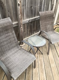 two gray metal framed padded chairs Fayetteville, 72704