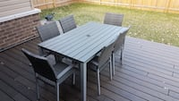 Rectangular patio table with six chairs dining set Point Edward, N7V