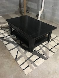 Black Coffee Table 48 x 26 heavy duty with drawers and lower shelf Columbus, 43221