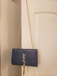 navy blue snake print ysl purse Pickering