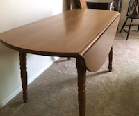 Solid Maple wooden drop leaf table 279 mi