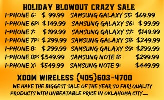 iPhone 7 for only $199.99 right here at XOOM WIRELESS, 4340 NW 39TH ST, OKC, OK 73112 Holiday sale has just started at XOOM WIRELESS, Quality product with unbeatable price.