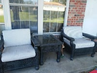 two black wooden armchairs Jefferson City