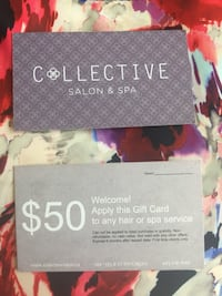 $50 Collective Salon and Spa gift card Calgary, T2T 4A3