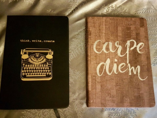 two black and brown notebooks - price for both
