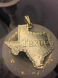 14k Gold Plated Texas Pendant