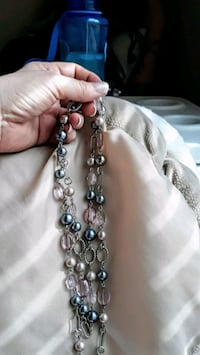 silver and black beaded necklace Westminster, 80234
