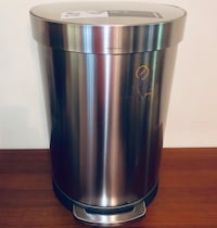 simplehuman Stainless Steel Semi-Round Step Can Smithfield, 23430