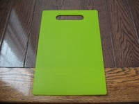 Small green chopping board