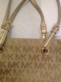 brown and beige Michael Kors leather tote bag Montréal, H1E 4R1