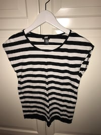 hvit og svart stripe scoop hals tank top 6240 km