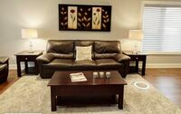 Brown leather 3-seat sofa and love seat Vaughan, L4H 1G2