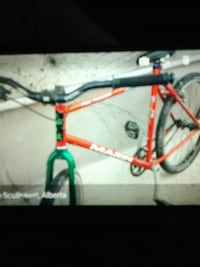 red and green mountain bike