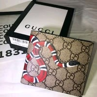 black and brown Gucci leather wallet Davie, 33314