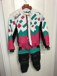 Motorcycle leather jacket and pants, ladies, woman