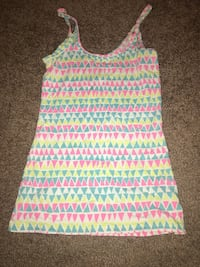 white and pink stripe tank top Evansville