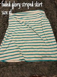 white and blue striped scoop-neck shirt Camden, 29020