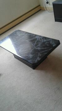 rectangular black wooden coffee table Calgary, T2T