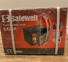 Electronic Safe Box from Safewell model EA25P, Brand New Never Opened