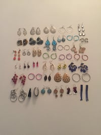Collection of 36 pairs of earrings