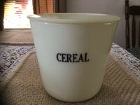 McKee 1930 Custard Cereal Canisters with Lid Frederick, 21701