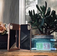 IPhone X rose gold mirror wallet case  Los Angeles, 91402