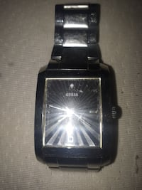 rectangular silver-colored Guess watch with link strap Winnipeg, R2M 5B4