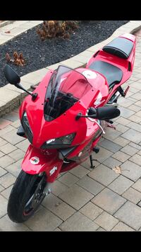 red Honda sports motorcycle