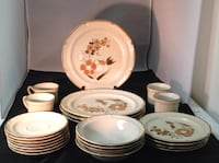 Vintage 1970's Baroque 23 pc Table Setting Lot 524 Planet Aid Thrift Center Catonsville,Md 21229 Baltimore, 21229