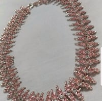 Pink choker necklace and earrings set  Alexandria, 22304