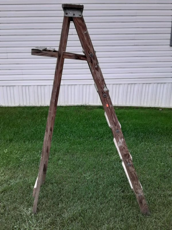 Two Wooden Vintage Ladders 3