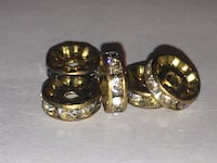 Golden Spacer Beads Jewellery Making Supplies Edmonton, T6H 2B3