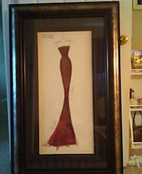brown wooden framed painting of red flower 137 mi