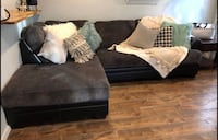 Brand new from Ashley furniture gray and black leather