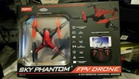 black and red quadcopter drone box Los Angeles, 91352