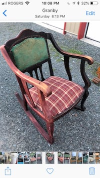 brown wooden framed brown padded armchair Montréal, H8Y